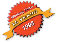 working since 1998,14 years excellence